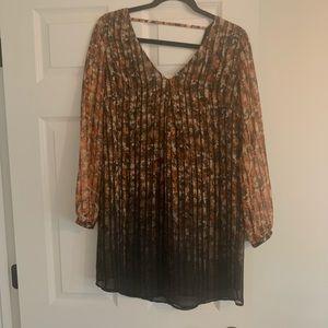 ASTR Rust/Black/Multi Long-sleeve Minidress